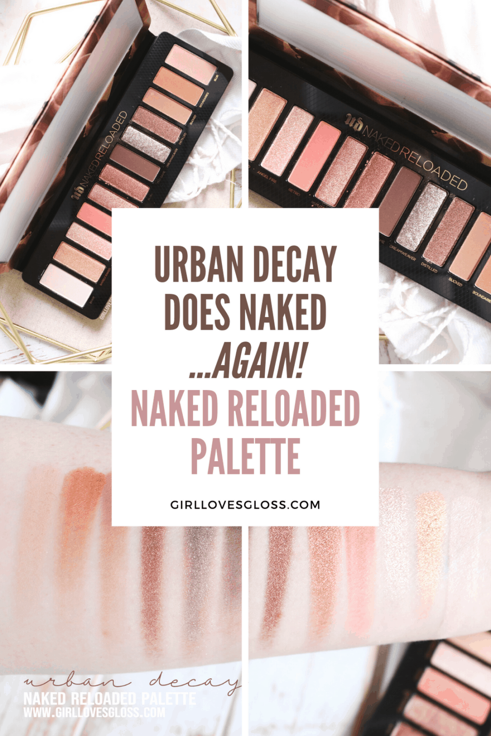 Urban Decay Naked Reloaded Palette Review and Swatches