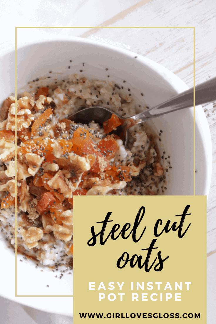 Easy Instant Pot Steel Cut Oats Recipe