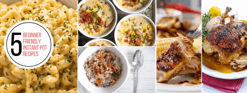 5 easy beginner friendly instant pot recipes