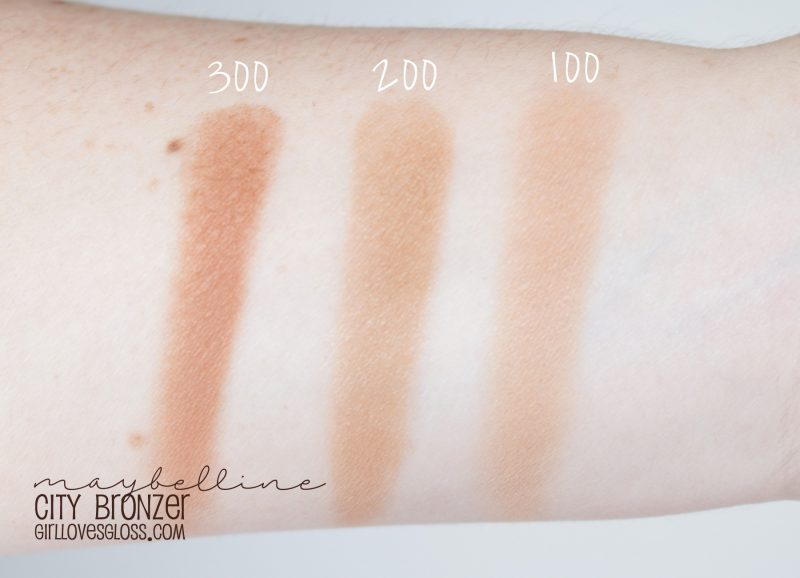 Maybelline City Bronzer Swatches