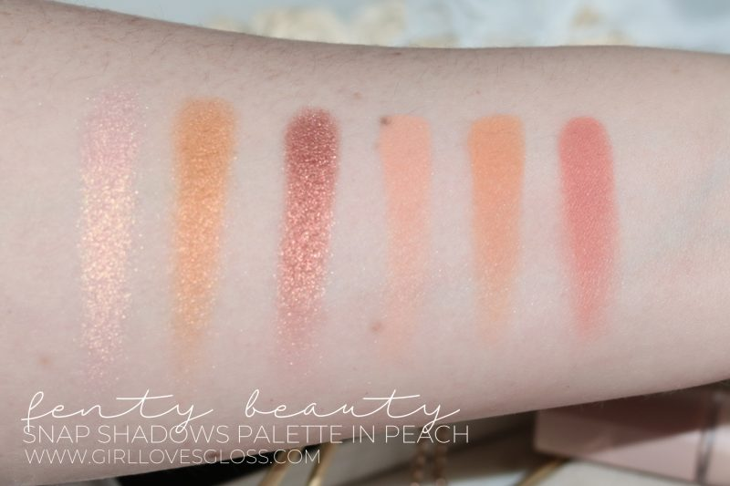 Fenty Snap Shadows Palette Peach and True Neutrals Review