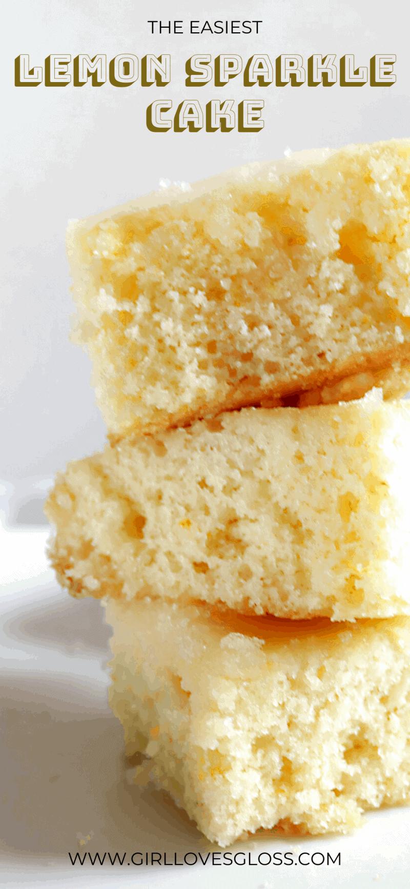Girl Loves Gloss Lemon Sparkle Cake Recipe Pinterest