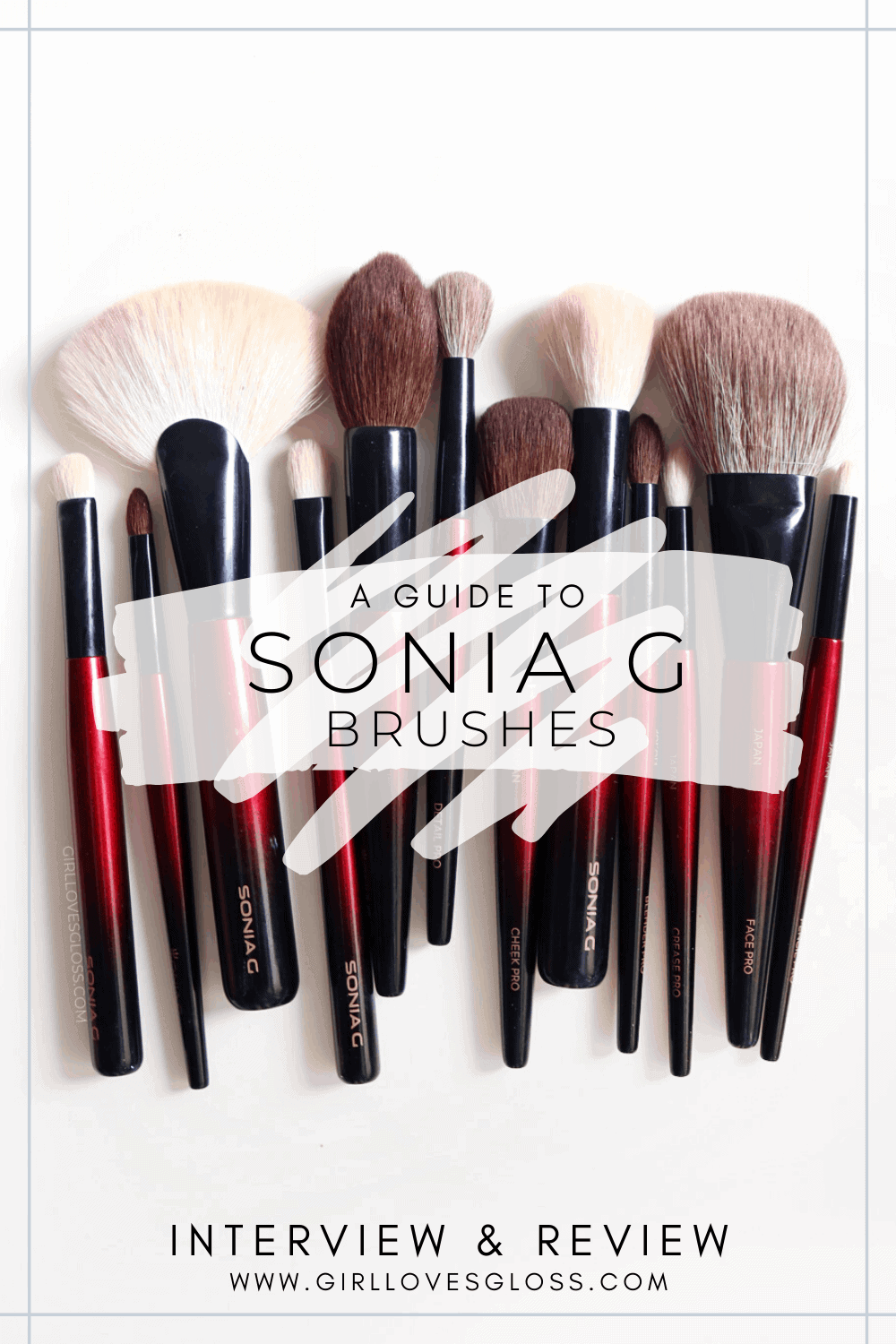 A guide to Sonia G Brushes with Interview and Review