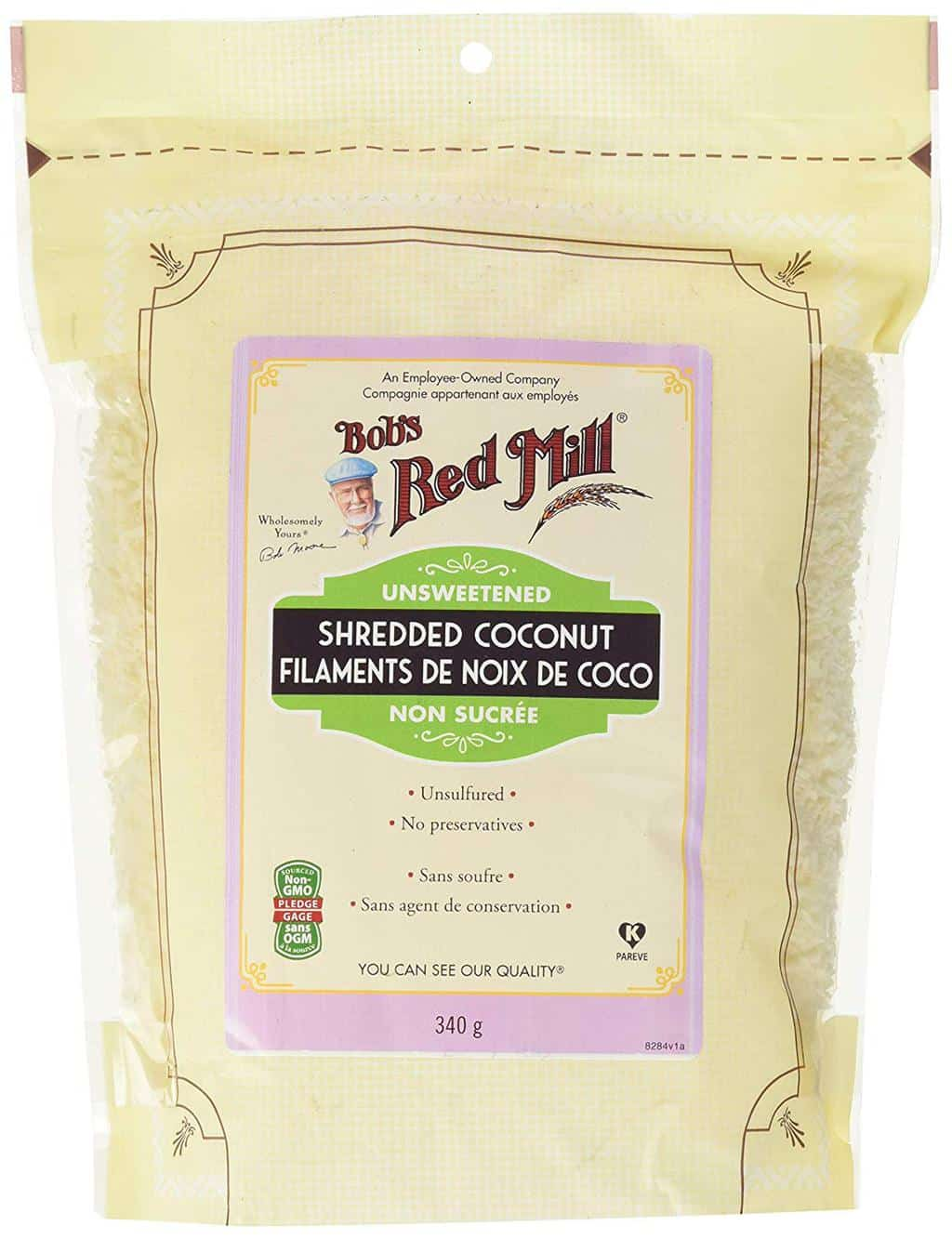 Bobs Red Mill Unsweetened Shredded Coconut, 340g