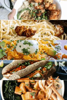 5 Easy Vegan and Vegetarian Recipes