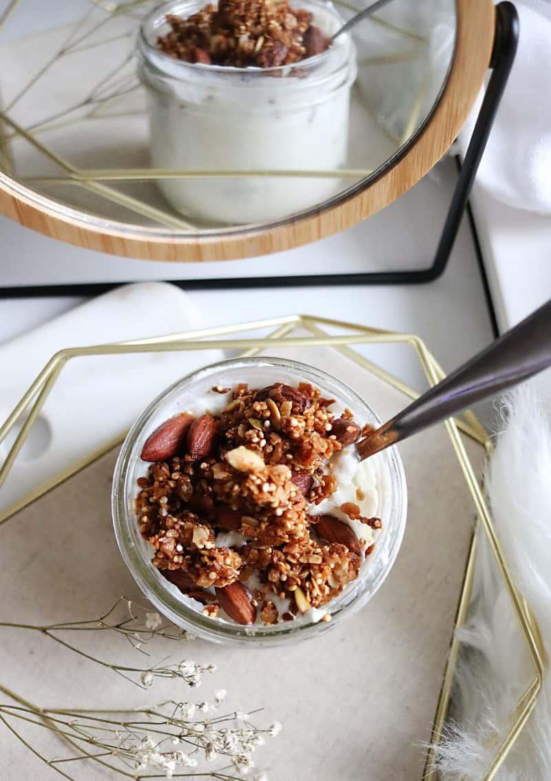 Quinoa Almond Granola Recipe