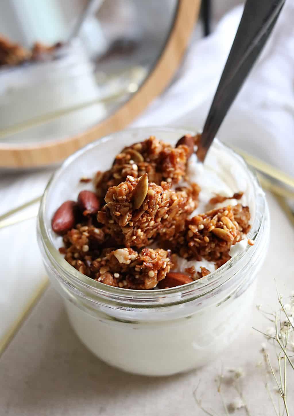 Easy Crispy Quinoa Granola Recipe