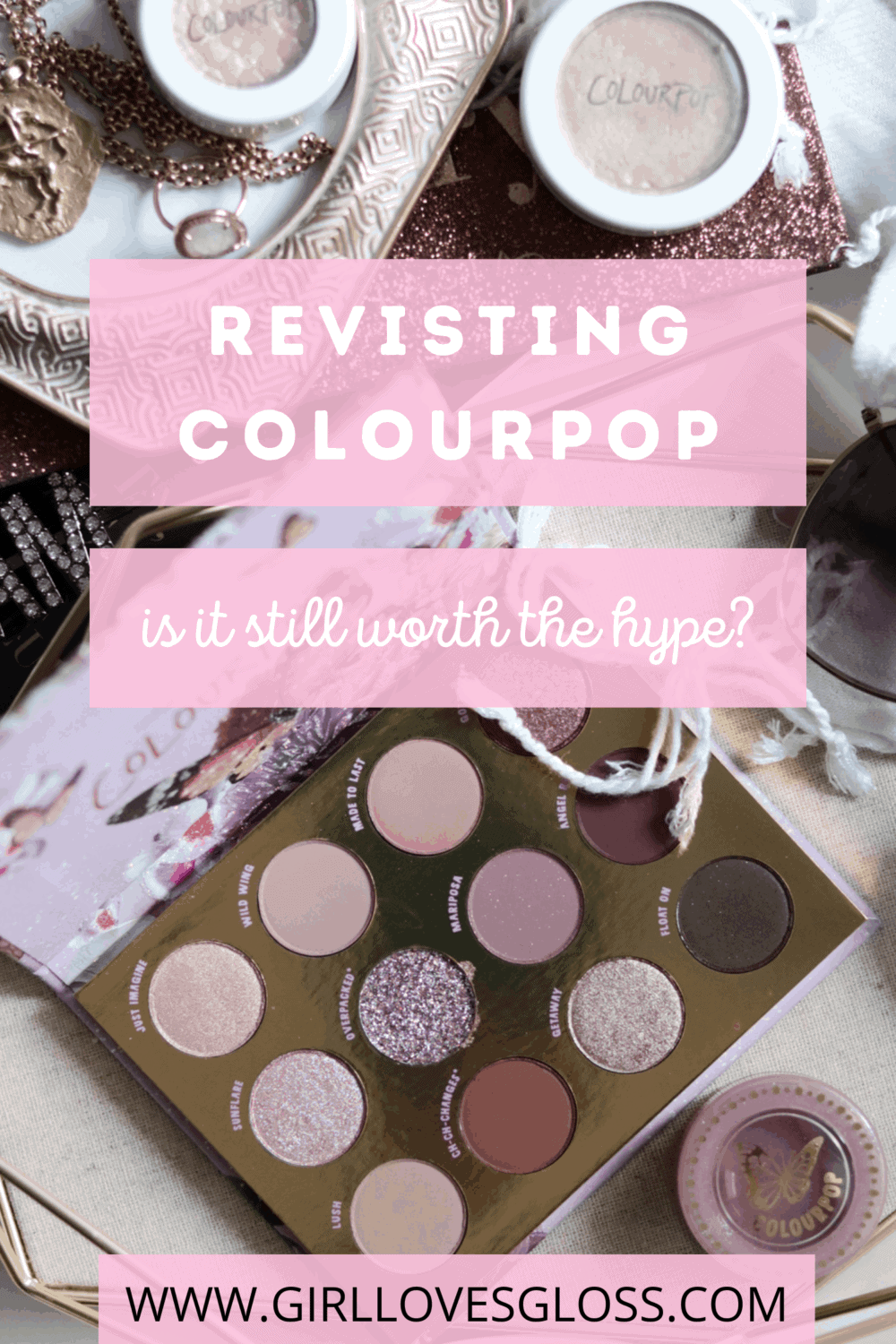 Colourpop Review Flutterby Palette, Bookay Jelly Much, Flexitarian and Super Shock Shadows
