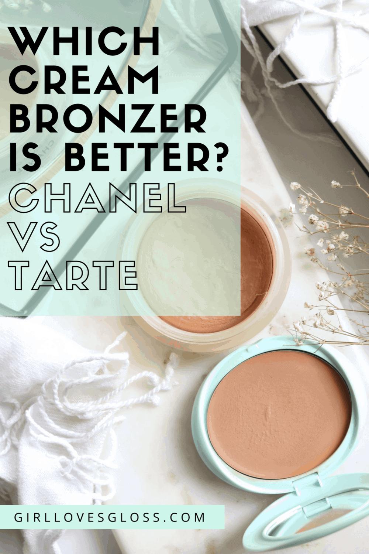 Tarte Breezy Cream Bronzer vs Chanel Soleil Tan de Chanel review swatches