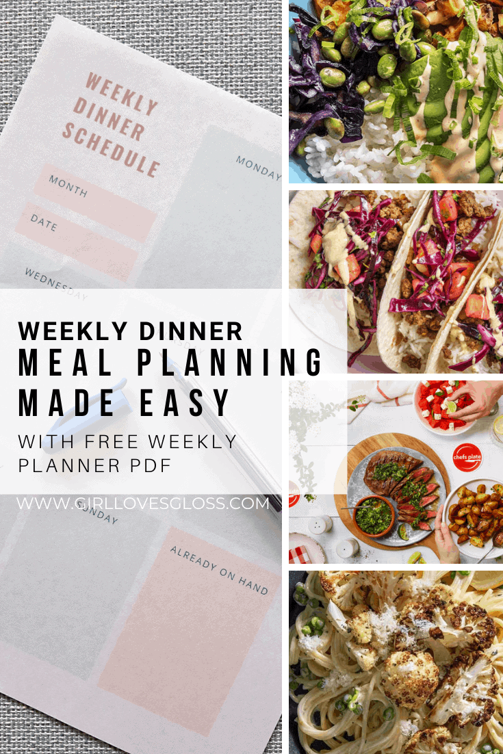 Weekly Dinner Planning Tips and Free Printable PDF Planner