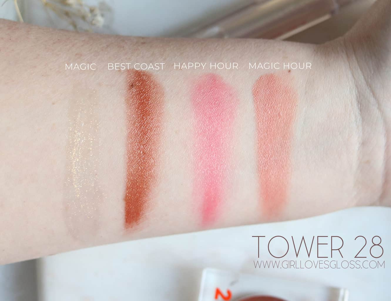 Tower 28 Beach Please Bronzino Swatches and Review