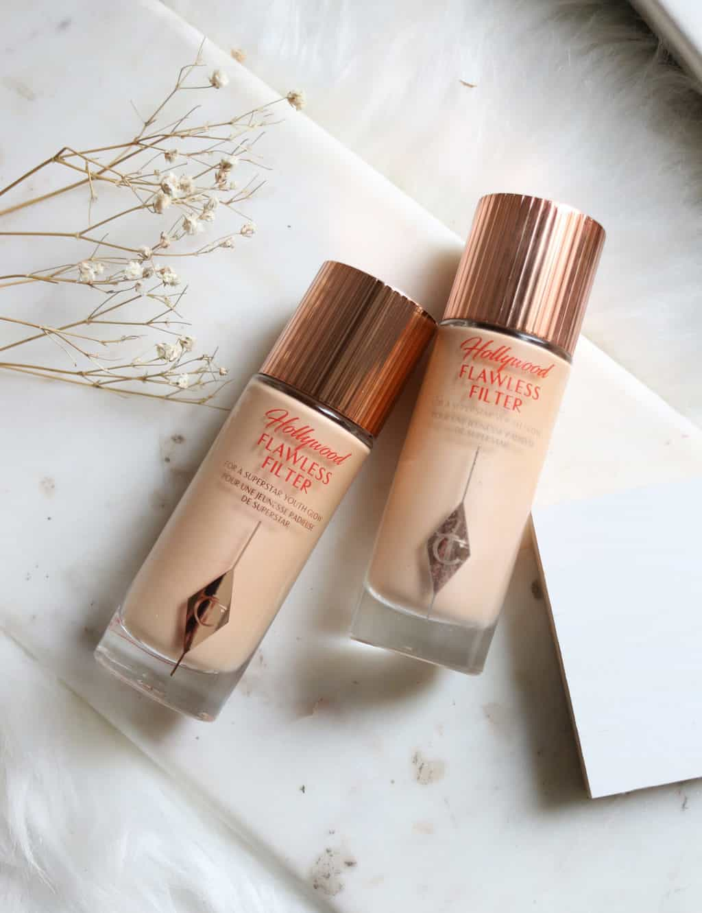 Charlotte Tilbury HollyWood Flawless Filter Shade Range Extension | Comparing Shades 2 and 2.5