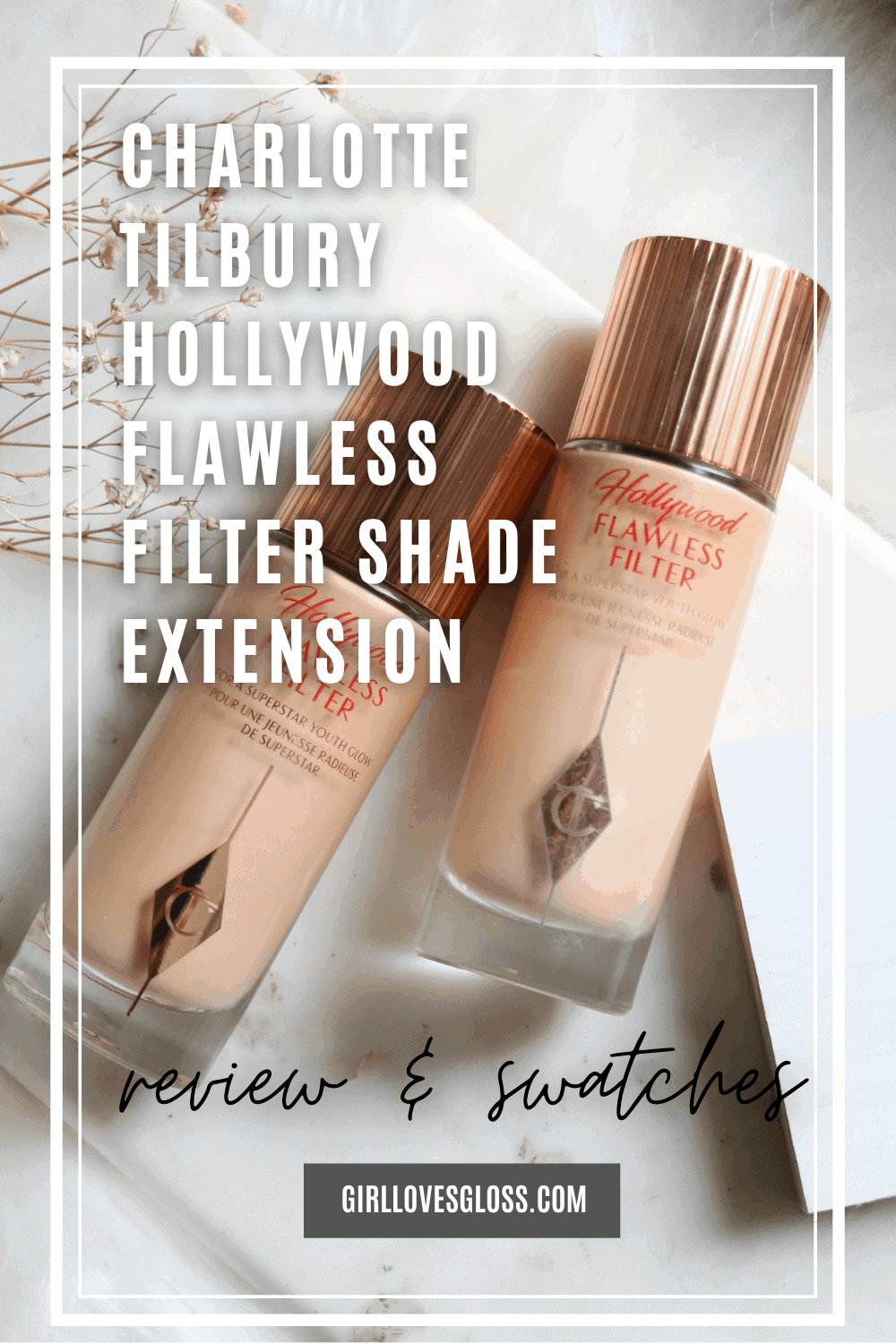 Charlotte Tilbury Hollywood Flawless Filter Review and Shade Extensions 2 vs 2.5