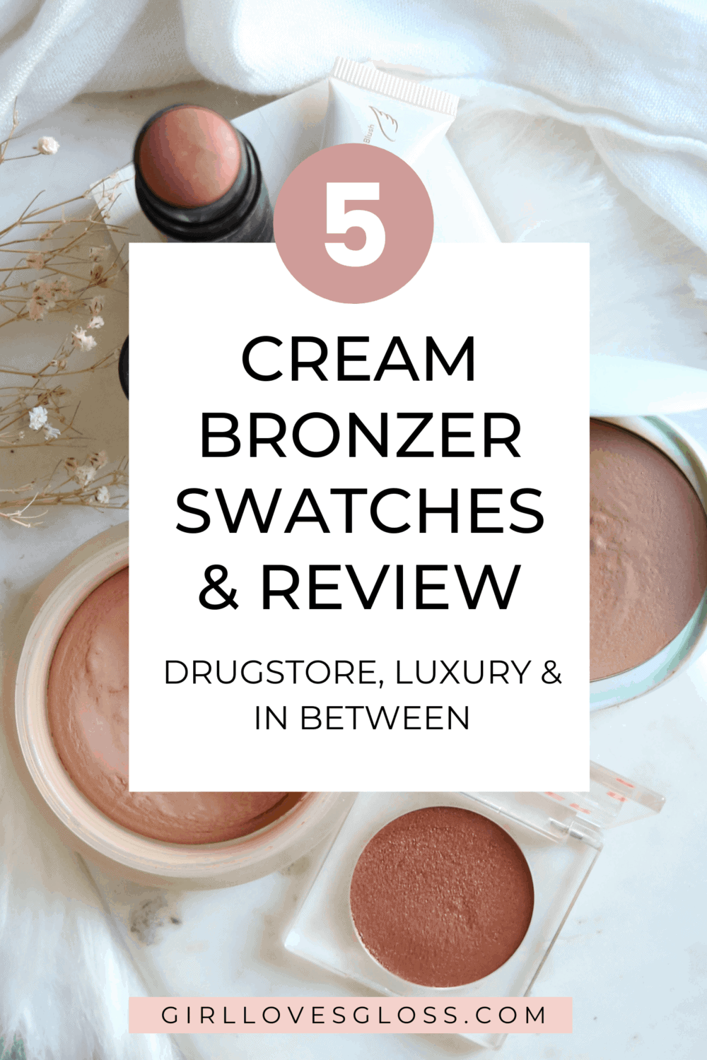 Cream Bronzer Comparison Chanel vs Tarte vs Nudestix vs Tower 28 vs Quo Beauty