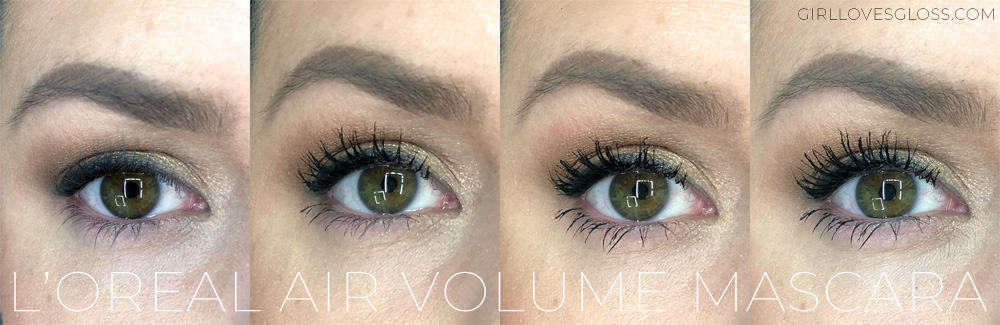 L'Oreal Air Volume Mascara Review Before and after