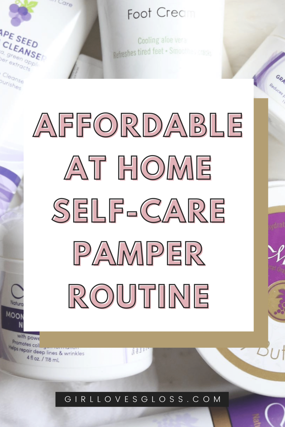 Affordable self-care at home pamper routine using budget friend skincare