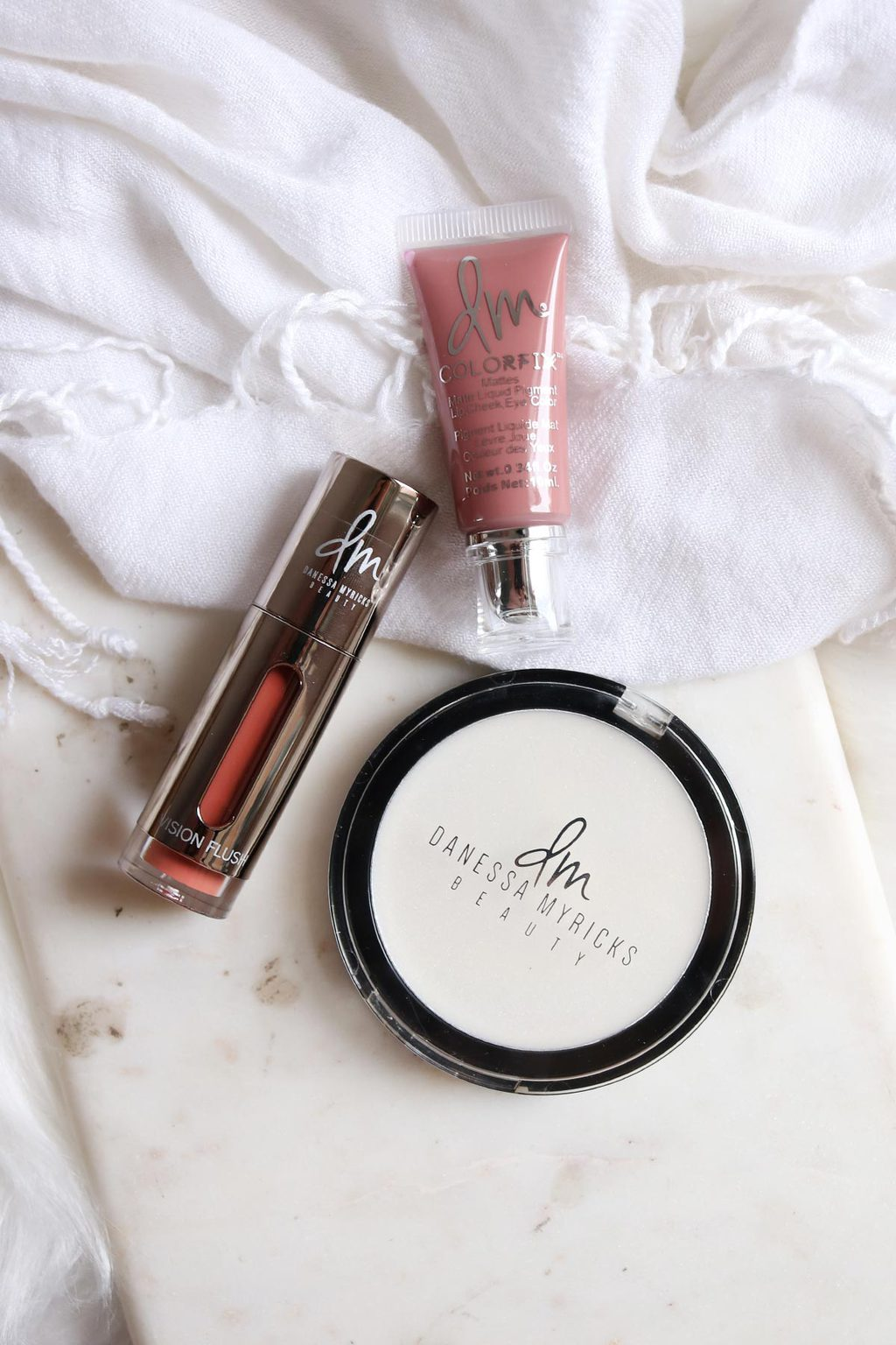 Danessa Myricks BEauty review and swatches vision flush colorfix and dew wet balm